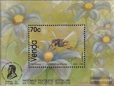 Venda Block8 Mint Never Hinged Mnh 1992 Bienenarten