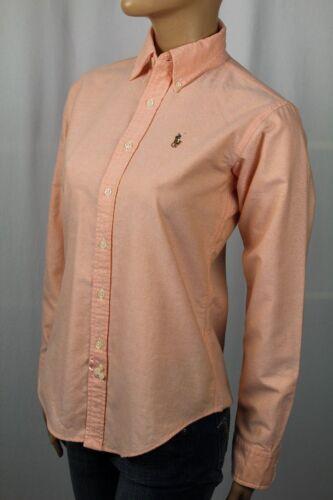 Ralph Lauren Orange Classic Fit Blouse Shirt Multi Colored Pony NWT