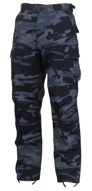 Dark Blue Camouflage Military BDU Cargo Bottoms Fatigue Trouser Camo Pants  4712 342c9534f37