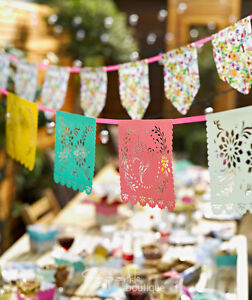 2-x-BUNTING-FLORAL-amp-MEXICANA-Summer-Garden-Party-BBQ-Luau-Fiesta-Decoration