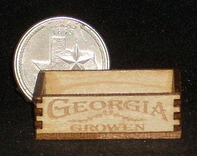 Dollhouse Miniature Georgia Produce Crate 1:12 Scale Farm Food Store Market