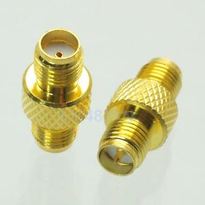 10pcs Adapter RP.SMA female plug to SMA female jack connector reticulated F/F