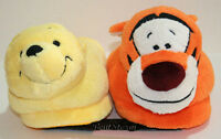 Disney Pooh Bear & Tigger Tiger Adult Slippers Soft Plush House Shoes Small