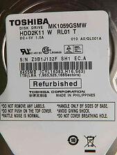 1 TB Toshiba MK1059GSMW HDD2K11 W RL01 T GL0001A hårddisk S/N:Z3B1J132FSH1 EC.A