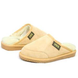 Originals UGG Sheepskin Chestnut Scuffs Men's Slipper 6 7 8 9 10 11 12