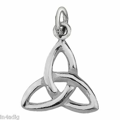 22mm x 12mm Solid 925 Sterling Silver Antiqued Celtic Knot Pendant