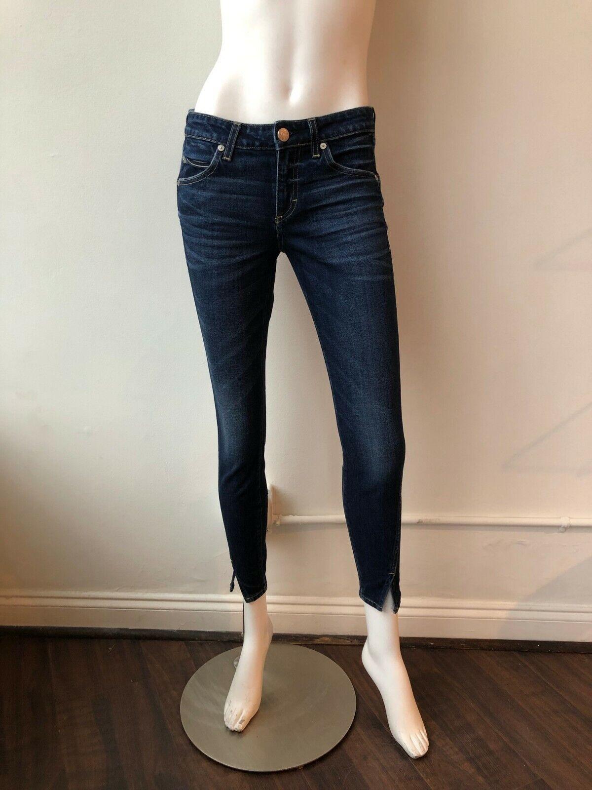 Amo Twist Skinny Jeans Size 26 Denim Dark Wash
