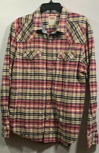 LEVI-S-MEN-S-LONG-SLEEVE-SNAP-BUTTON-BUTTON-FRONT-SHIRT-SIZE-XL