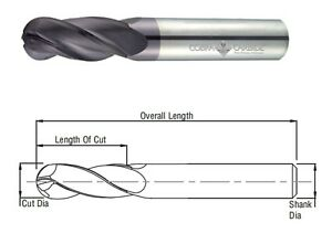 Cobra Carbide 24152 8 MM Carbide End Mill 2 FL Uncoated Metric OAL 63 MM