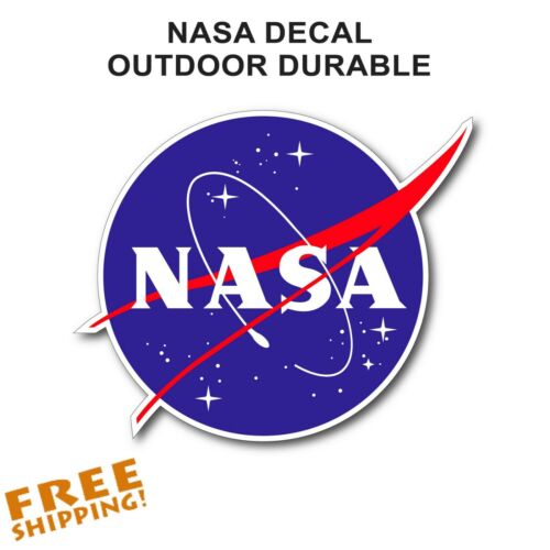 "NASA /""MEATBALL/"" STICKER Outdoor Vinyl Decal 3.5/"" NEW Made in USA 1 Piece"