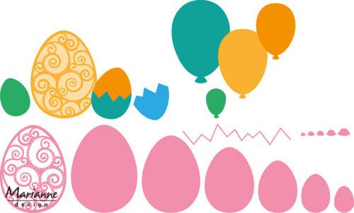 Marianne Design Collectables huevos de Pascua globos de corte embos Die COL1425