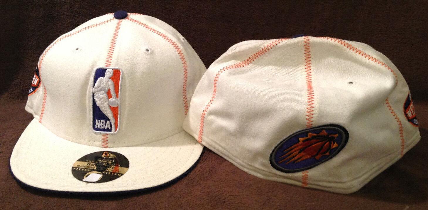 Phoenix Suns New Era Hat 59FIFTY NBA Logo Fitted Hat Era White/Orange Size 7 1/2 d95baa