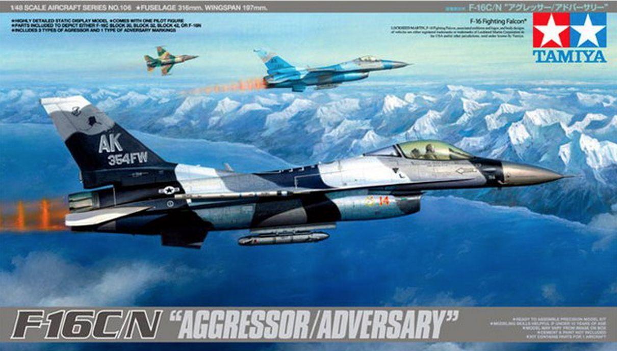 F-16 C N Aggressor Adversary 1 48 Tamiya 61106