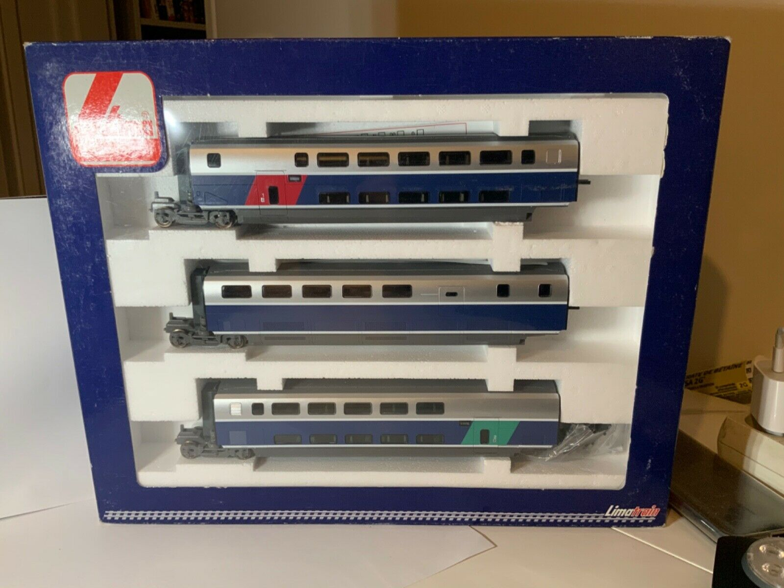 Coffret 3 remorques TGV Duplex Lima L149617 SNCF HO  collection  jouef  roco