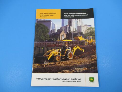 Original John Deere Sales Brochure 110 Compact Tractor Loader Backhoe M1297