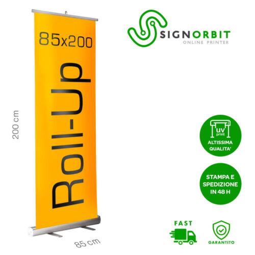 Roll Up 85X200 cm Stampa UV altissima qualità Rollup espositore Stampa in 24ore