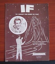 If (If I Hadn't The Right To You) Perry Como- 1950 sheet music-Piano Vocal Uke 2