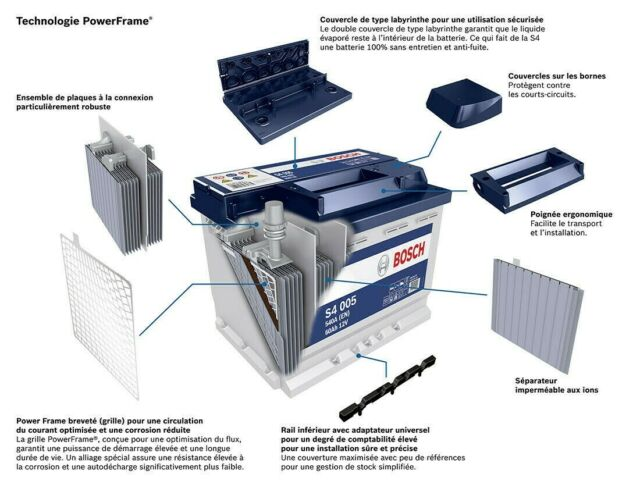 Batterie Bosch De Voiture S400874A/h-680A