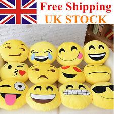 4 X NEW Emoji Cushion Pillow Emotion Yellow Round  Stuffed  Plush Soft Toys  UK