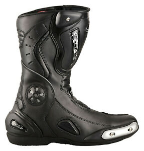 Motorradstiefel-XLS-Touringstiefel-Boots-Schwarz-Gr-44-defekt