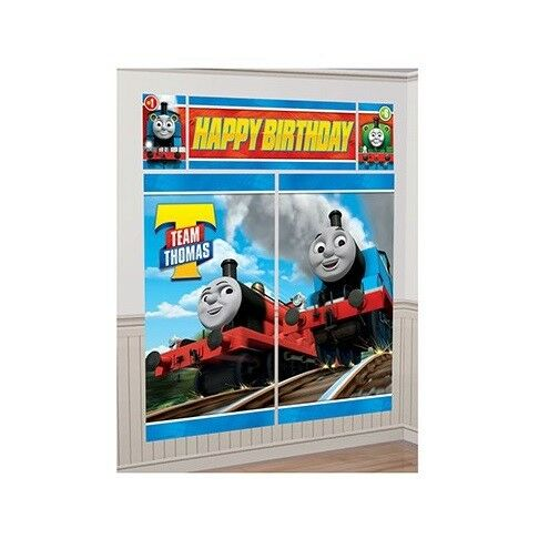 Thomas All Aboard BIRTHDAY PARTY SCENE SETTER WALL POSTER DECORATION
