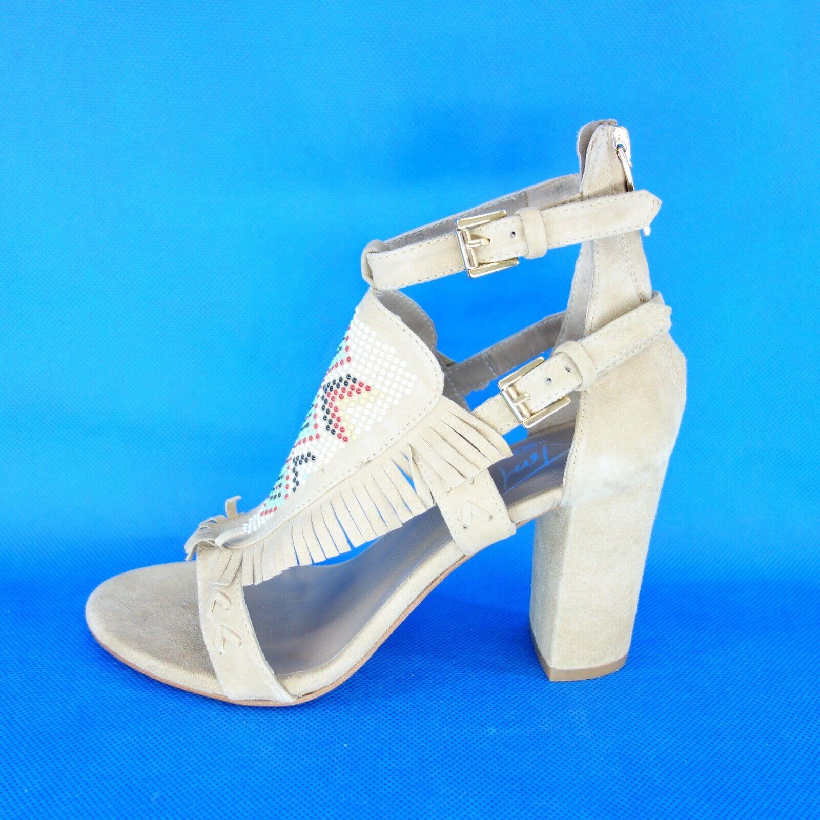 Toral Damen Schuhe Sandaletten Pumps Größe 36 37 39 41 Beige Leder NP 189 Neu