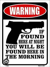 If Found Here Metal Novelty Parking Sign