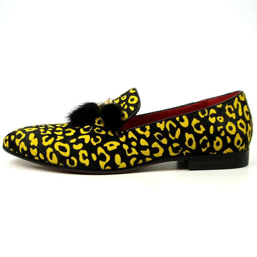 FI-7402 nero giallo Pony Hair with with with Tassel Loafer Fiesso by Aurelio Garcia 589a29
