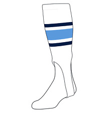 Baby Blue 300E, 5in White TCK Baseball Stirrups Large Navy