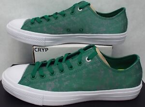 f9e361333f772 Details about New Mens 11.5 Converse Chuck Taylor CTAS 2 OX Reflect Amazon  Green $75 153547C