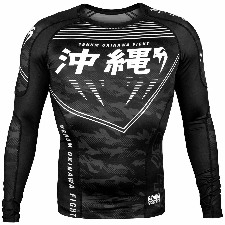 Venum Okinawa 2.0 Rash Guard Long Sleeve BJJ Training Top T Shirt Gym MMA Nogi