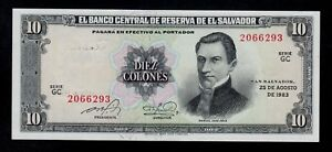 EL SALVADOR 10 COLONES 25-8-1983 P 135a UNC