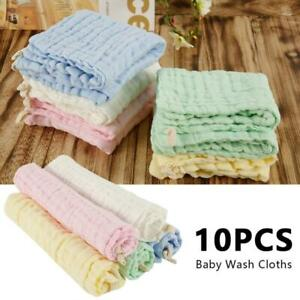 5Pcs-Gauze-Muslin-Baby-Kids-Bibs-Wash-Face-Towel-Cloth-Hand-Saliva-Bath-Towel-X