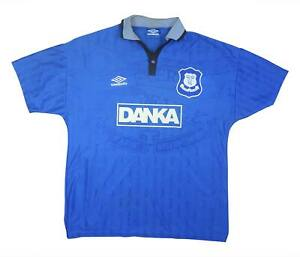 Everton 1995-97 Authentic Home Shirt Camicia (eccellente) L