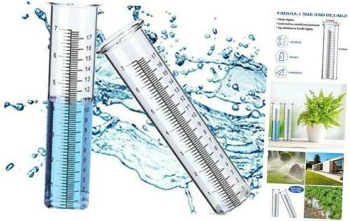 2 Pieces 7 Inch Capacity Rain Gauge Glass Tube Rainfall Test Replacement Tube