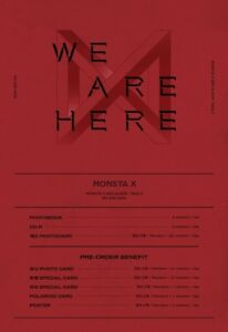 MONSTA-X-WE-ARE-HERE-Random-ver-CD-PO-Benefit-Poster-Gift-Tracking-no