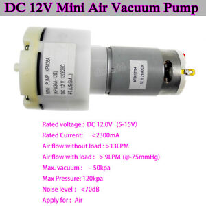 12v Dc Mini Miniature Suction Air Vacuum Pump Compressor