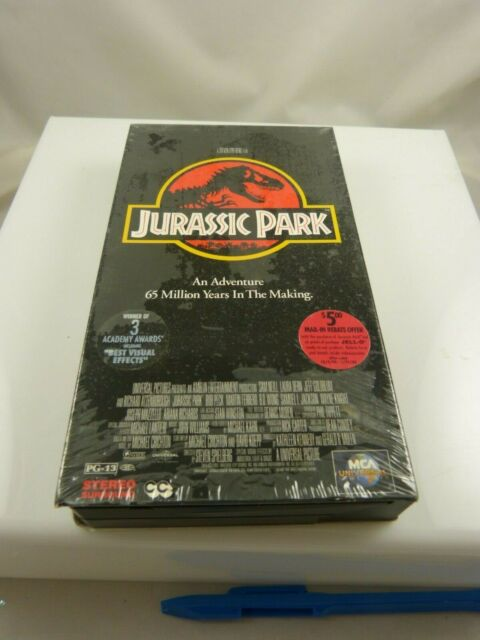 Jurassic Park Watched once VHS Tape Adventure movie