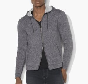 John-Varvatos-Star-USA-Men-039-s-Zip-Front-Dual-Face-Marled-Fabric-Hoodie-Med-Grey