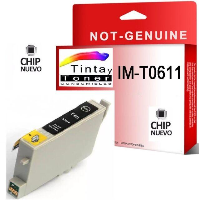 Tinta NON OEM COMPATIBLE Negro para EPSON STYLUS T0611 D68 DX4800 DX4850 D88