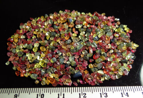50ct FANCY COLOR SAPPHIRE RUBY rough NATURAL MINI CRYSTAL LOTS blue green