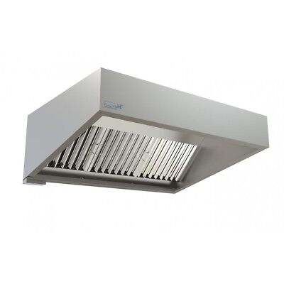 Commercial Kitchen Extraction Canopy Hood Kit 1500mm Extraction