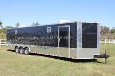 New 2021 85 X 32 85x32 Enclosed Race Cargo Car Hauler Trailer Loaded