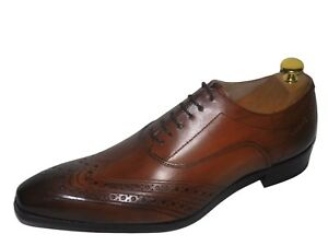 Italienne Chaussure MainEbay Luxe Homme Clair Marron Cousu Neuf Cuir IWD9E2H