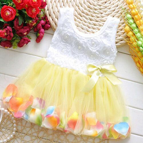 Baby Blumenmädchen Ärmellos Tutu Sommerkleid Festkleid Party Hochzeit Abendkleid