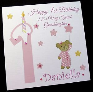 Image Is Loading Personalised 1st Birthday Card Sister Daughter Granddaughter Niece