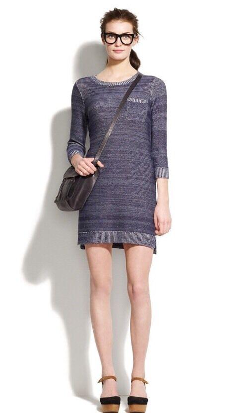 NWT Madewell Indigo Ink Sweaterdress Size L