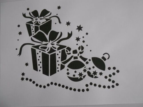 """Schablone /"""" Geschenke2  /"""" auf A4"""