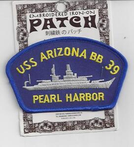 Uss arizona bb-39 pearl harbor hawaii patch hat black snapback.