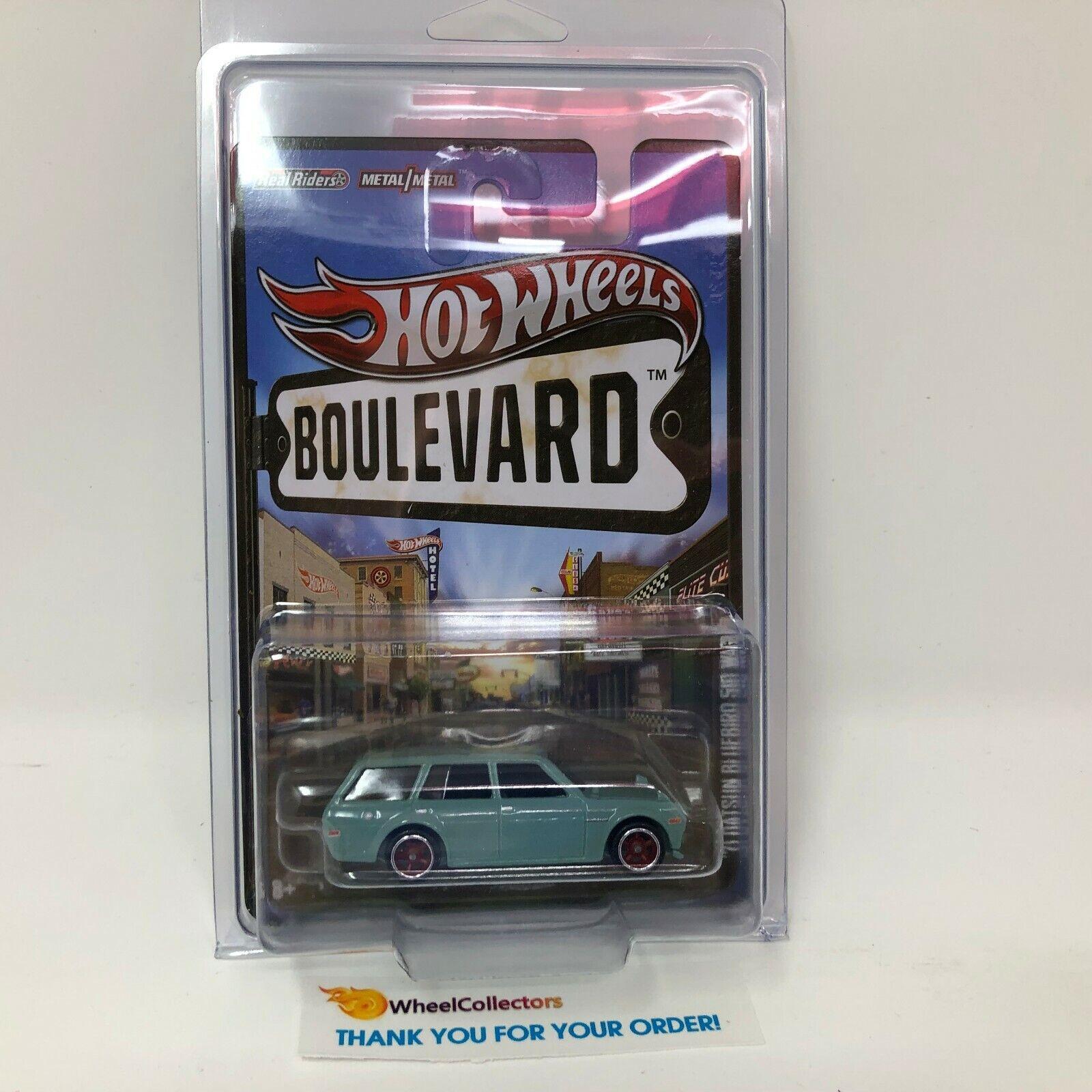 '71 Datsun blueebird 510 Wagon  Hot Wheels Boulevard w  Real Riders  WB4